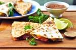 Three-Cheese Vegetable Quesadillas
